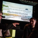 Powerpoint Slide mit dem # Berlin MICE Summit