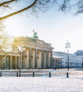 Brandenburger Tor im Winter