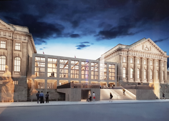 Visualization of the completed reconstruction of the Pergamon Museum